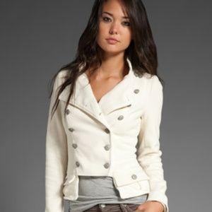 Free People Majorette Corset Lacing White Jacket